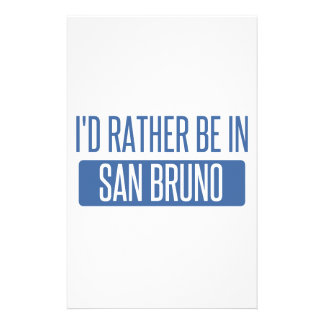 I'd rather be in San Bruno Stationery