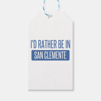 I'd rather be in San Clemente Pack Of Gift Tags