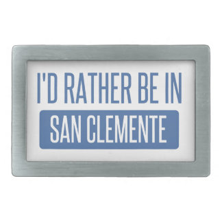 I'd rather be in San Clemente Rectangular Belt Buckle