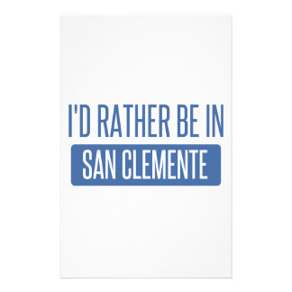 I'd rather be in San Clemente Stationery