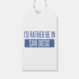I'd rather be in San Diego Gift Tags