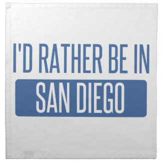 I'd rather be in San Diego Napkin