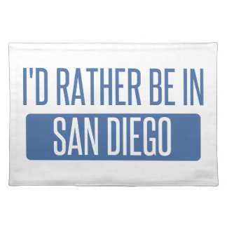 I'd rather be in San Diego Placemat
