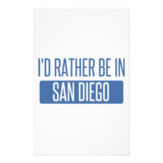 I'd rather be in San Diego Stationery