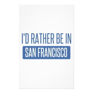 I'd rather be in San Francisco Stationery