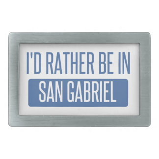 I'd rather be in San Gabriel Belt Buckles