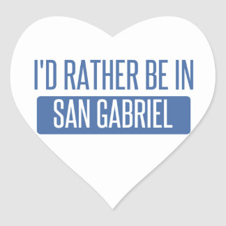 I'd rather be in San Gabriel Heart Sticker