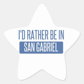 I'd rather be in San Gabriel Star Sticker
