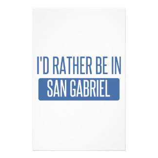 I'd rather be in San Gabriel Stationery