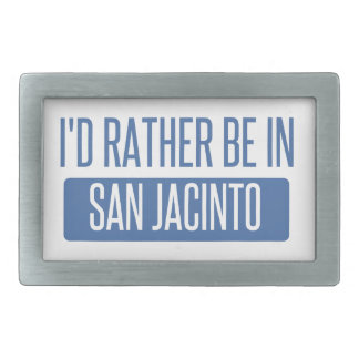 I'd rather be in San Jacinto Rectangular Belt Buckle