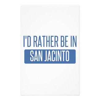 I'd rather be in San Jacinto Stationery