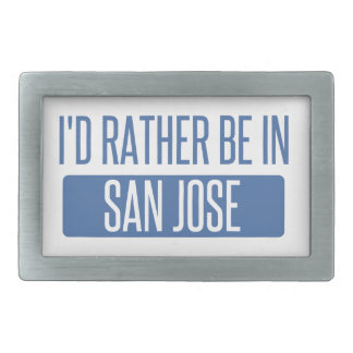 I'd rather be in San Jose Belt Buckles