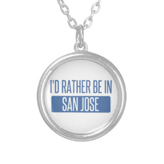 I'd rather be in San Jose Silver Plated Necklace