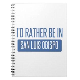 I'd rather be in San Luis Obispo Spiral Notebook