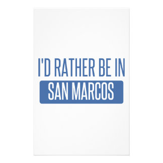 I'd rather be in San Marcos CA Stationery