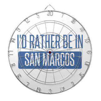 I'd rather be in San Marcos TX Dartboard