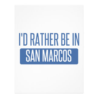 I'd rather be in San Marcos TX Letterhead