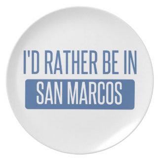 I'd rather be in San Marcos TX Plate