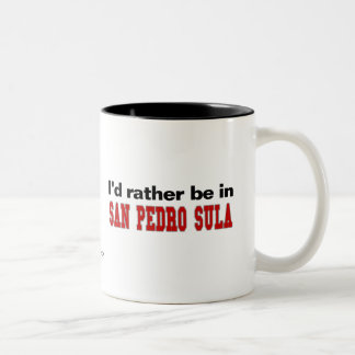 I'd Rather Be In San Pedro Sula Two-Tone Coffee Mug