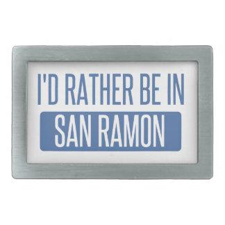 I'd rather be in San Ramon Rectangular Belt Buckles