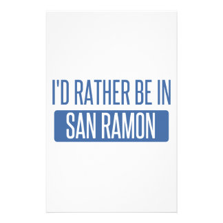 I'd rather be in San Ramon Stationery