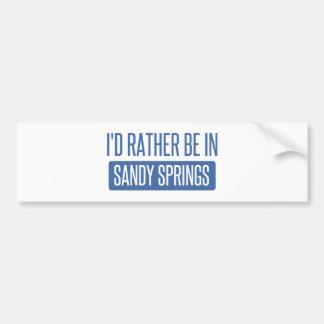 I'd rather be in Sandy Bumper Sticker