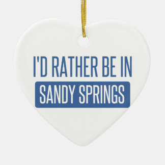 I'd rather be in Sandy Ceramic Heart Ornament