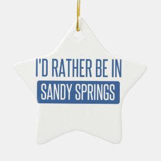 I'd rather be in Sandy Ceramic Star Ornament