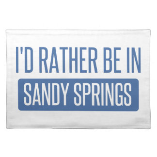 I'd rather be in Sandy Placemat