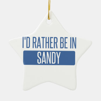 I'd rather be in Sandy Springs Ceramic Star Ornament