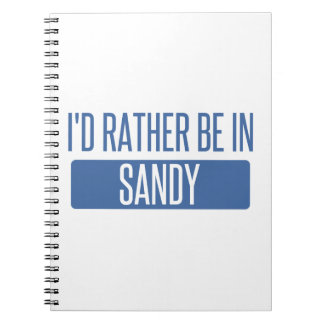 I'd rather be in Sandy Springs Notebook