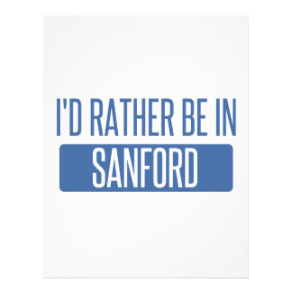 I'd rather be in Sanford Personalized Letterhead