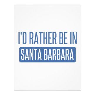 I'd rather be in Santa Barbara Letterhead