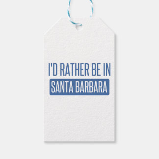 I'd rather be in Santa Barbara Pack Of Gift Tags