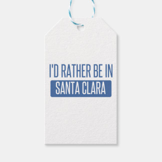 I'd rather be in Santa Clara Pack Of Gift Tags