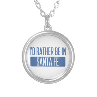 I'd rather be in Santa Fe Silver Plated Necklace