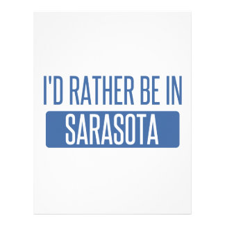 I'd rather be in Sarasota Personalized Letterhead