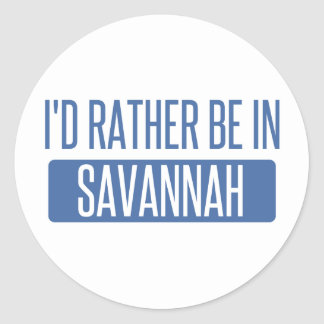I'd rather be in Savannah Classic Round Sticker