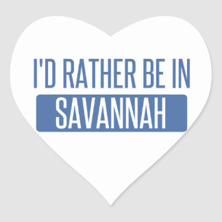 I'd rather be in Savannah Heart Sticker