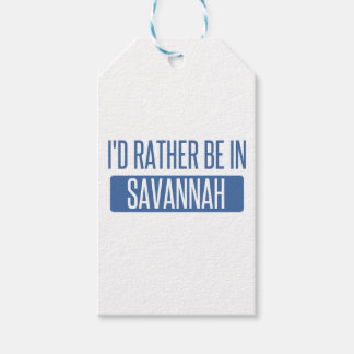I'd rather be in Savannah Pack Of Gift Tags