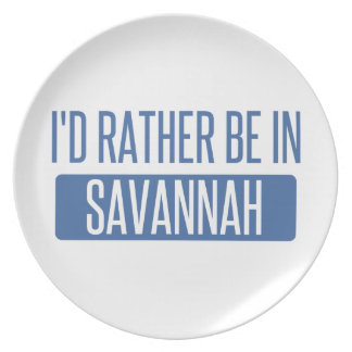 I'd rather be in Savannah Plate