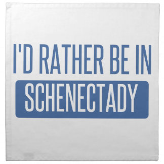 I'd rather be in Schenectady Napkin