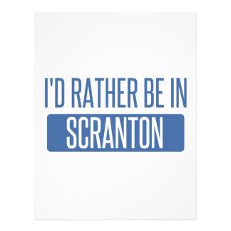 I'd rather be in Scranton Letterhead