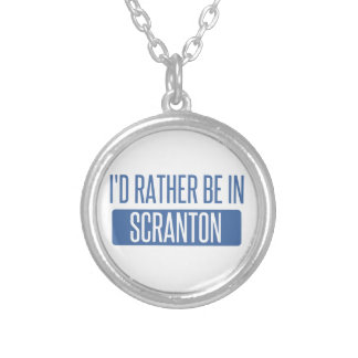 I'd rather be in Scranton Silver Plated Necklace