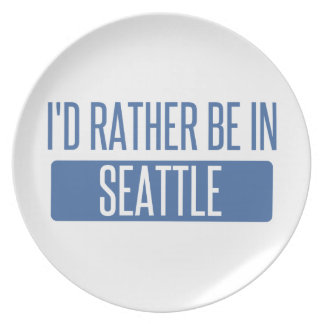 I'd rather be in Seattle Plate