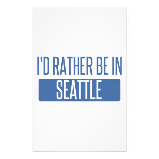 I'd rather be in Seattle Stationery