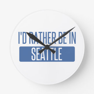 I'd rather be in Seattle Wall Clock