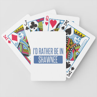 I'd rather be in Shawnee Bicycle Playing Cards