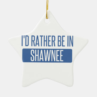 I'd rather be in Shawnee Ceramic Star Ornament