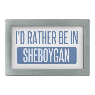 I'd rather be in Sheboygan Rectangular Belt Buckles